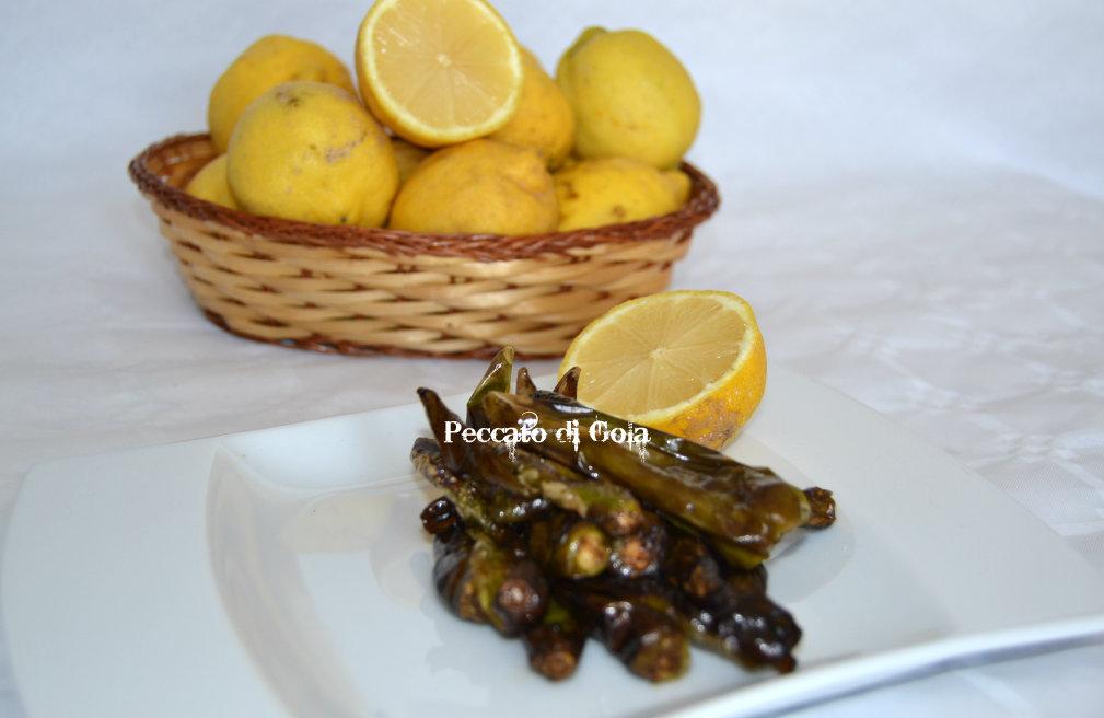 peperoncini verdi al limone, peccato di gola