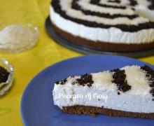 Torta fredda allo yogurt cocco e cioccolato