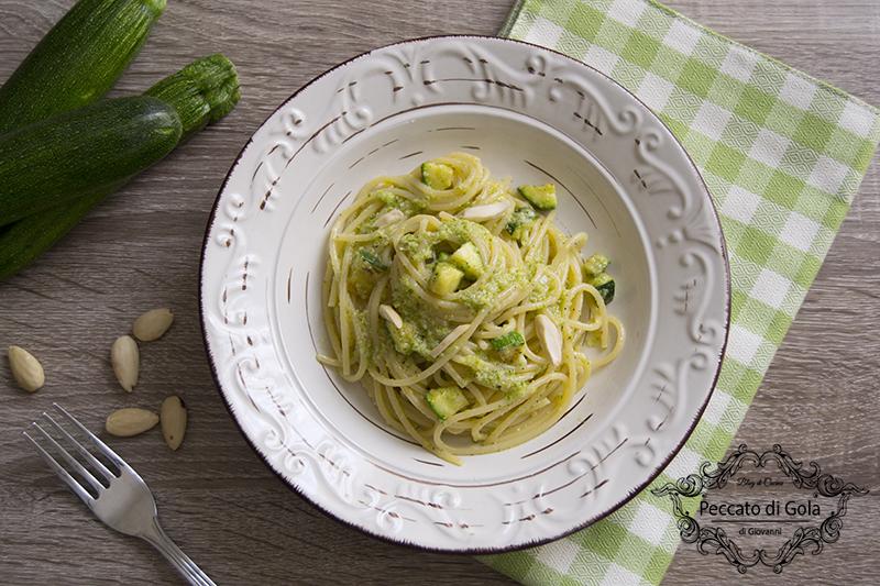 ricetta pasta al pesto di zucchine, peccato di gola di giovanni