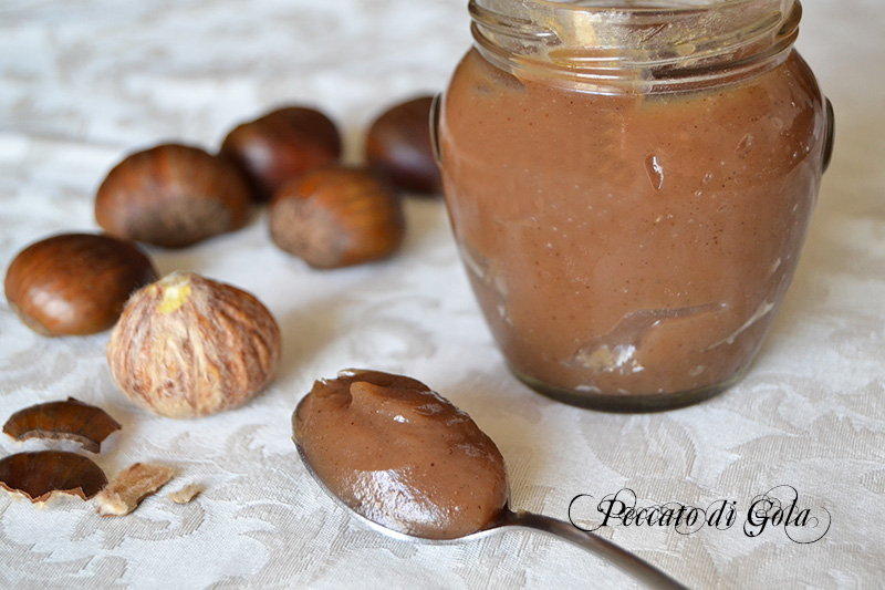 la ricetta della marmellata di castagne o marroni, peccato di gola
