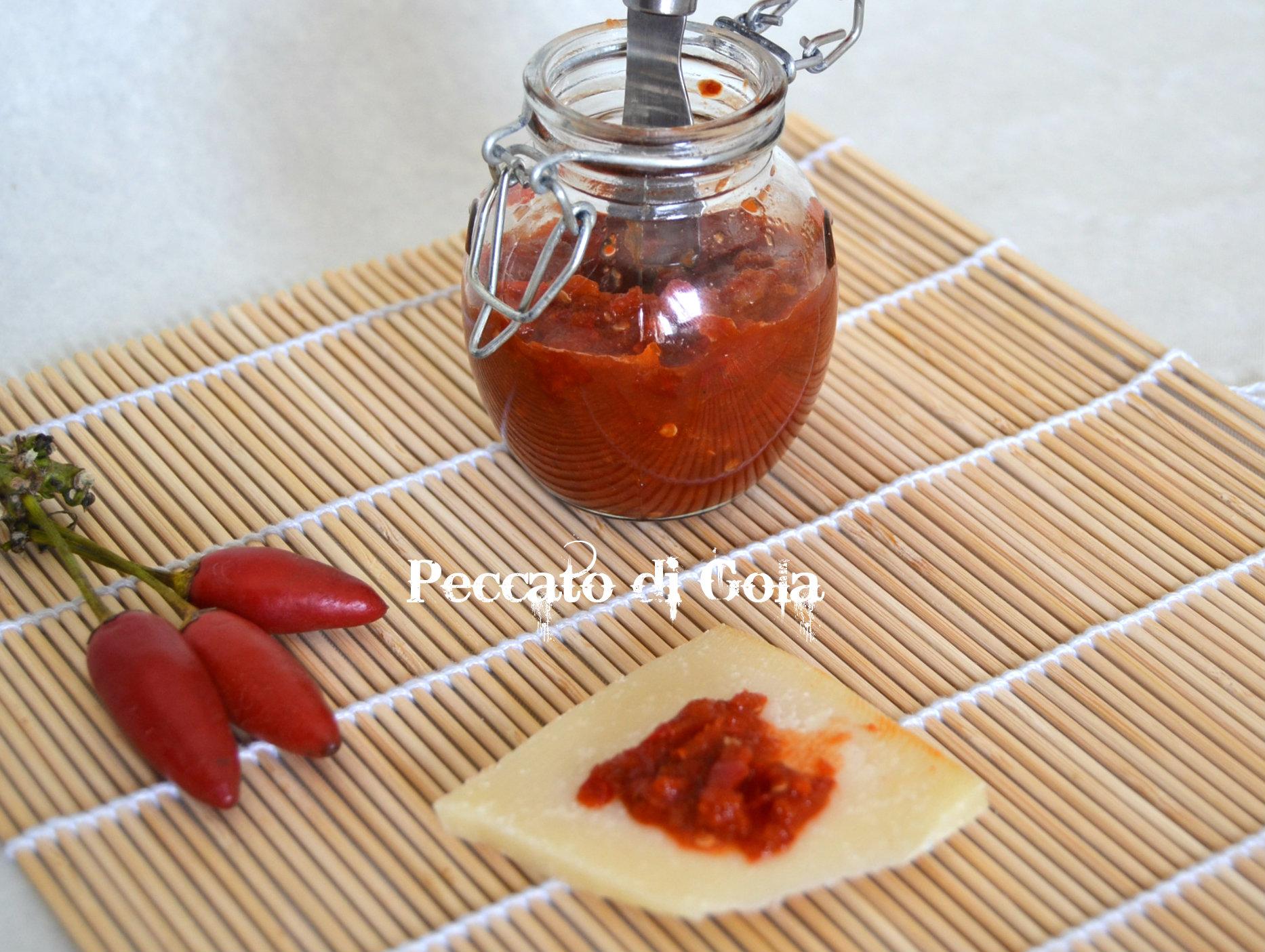 marmellata di peperoncini piccanti, peccato di gola