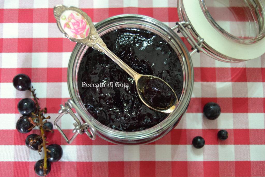 ricetta confettura di uva fragola, peccato di gola