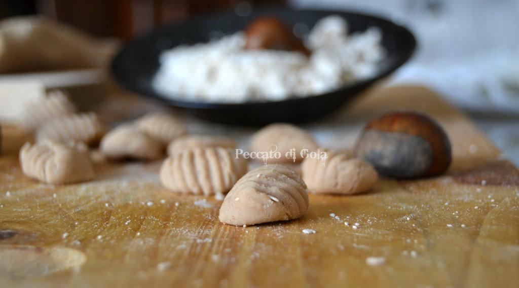 ricetta gnocchi di castagne, peccato di gola