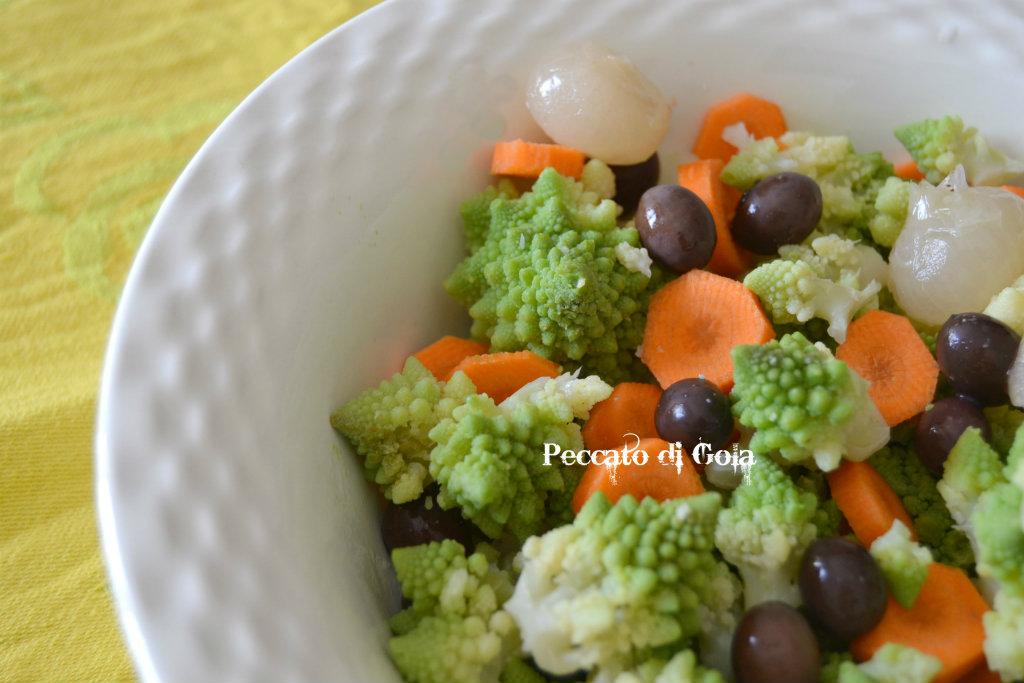 ricetta insalata con broccolo romano, peccato di gola