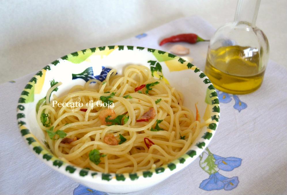 ricetta spaghetti aglio e olio, peccato di gola
