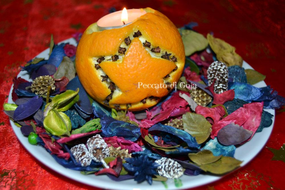 decorazioni arance, peccato di gola