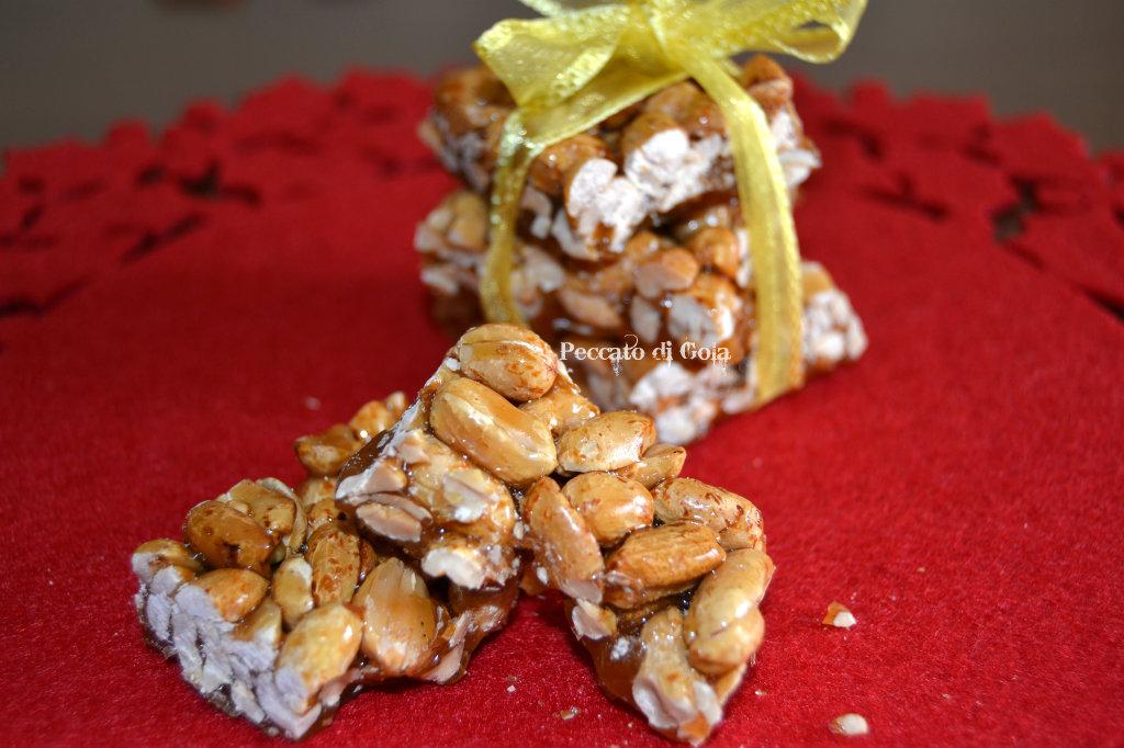 ricetta croccante agli arachidi, peccato di gola