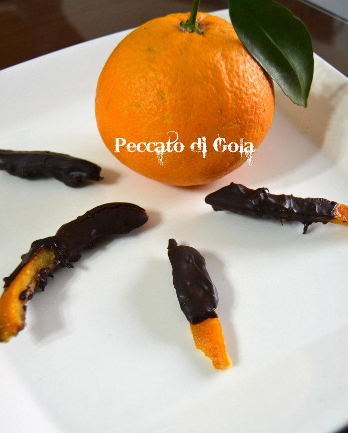 ricetta scorze di arancia al cioccolato, peccato di gola