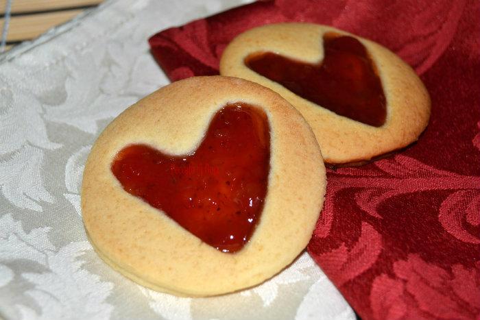 ricetta biscotti di san valentino, peccato di gola