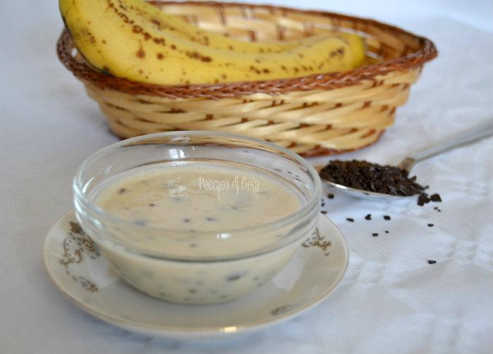 ricetta yogurt banana e cioccolato, peccato di gola