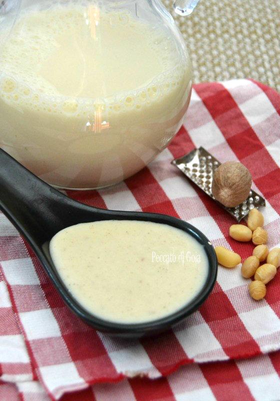 ricetta besciamella con latte di soia, peccato di gola