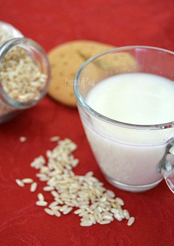 ricetta latte di riso, peccato di gola
