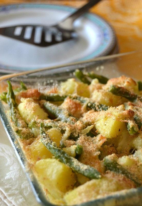 ricetta teglia di fagiolini e patate, peccato di gola