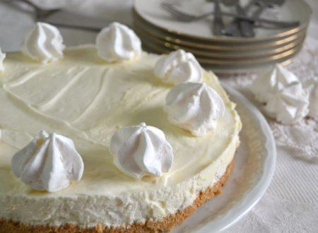 Cheesecake al cioccolato bianco, dolce senza cottura