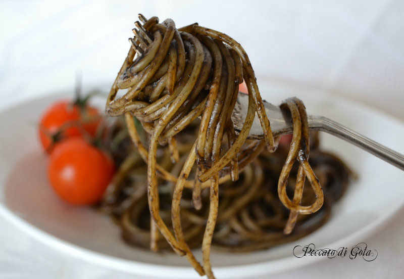 ricetta della pasta al nero di seppia, peccato di gola