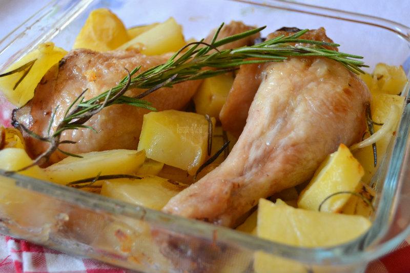 ricetta pollo e patate al forno, peccato di gola