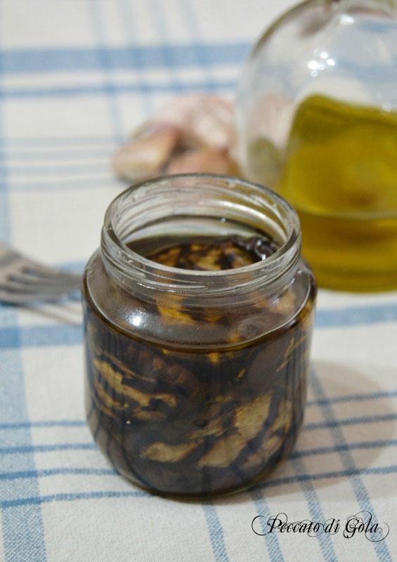 ricetta melanzane grigliate sott'olio, peccato di gola