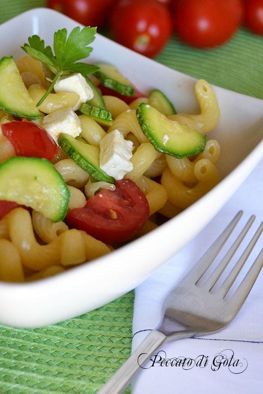 ricetta pasta feta e zucchine, peccato di gola