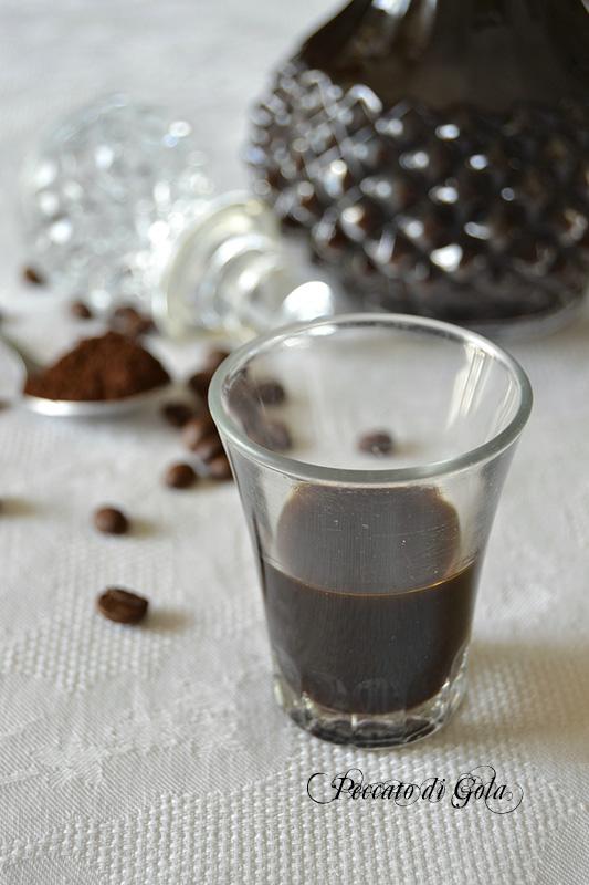 ricetta liquore al caffè, peccato di gola