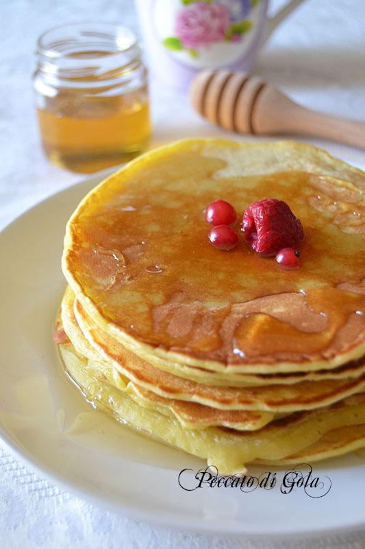 ricetta pancakes con pasta madre, peccato di gola