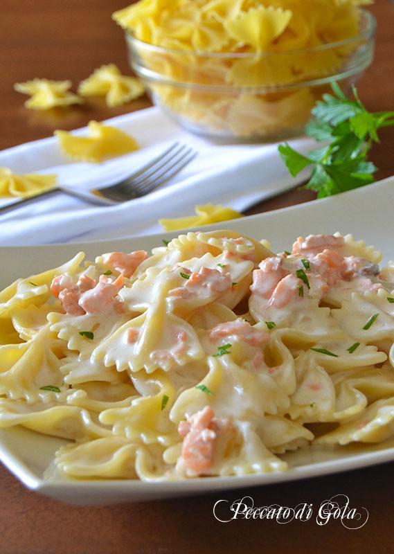 ricetta pasta salmone e panna, peccato di gola