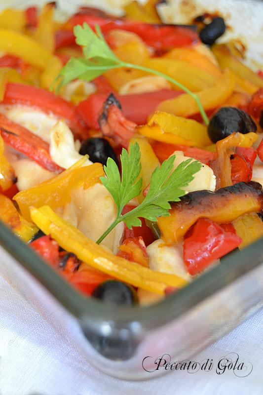 ricetta teglia di pollo e peperoni al forno, peccato di gola