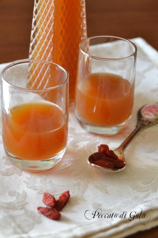 ricetta liquore alle bacche di goji, peccato di gola