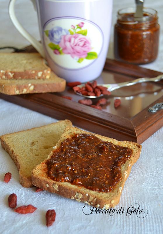 ricetta marmellata alle bacche di goji, peccato di gola