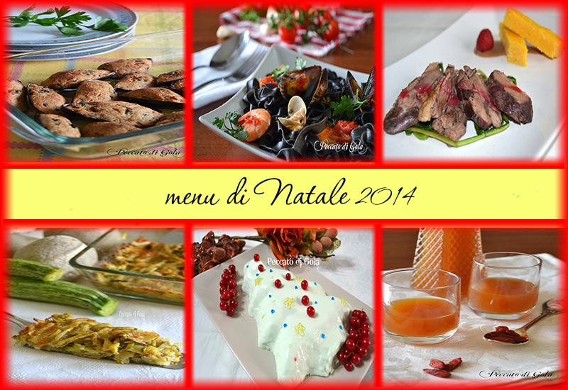 le ricette del menu di natale 2014, peccato di gola