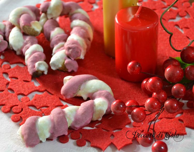 ricetta candy canes cookies decorate, peccato di gola