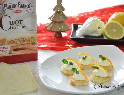 Tartine salate di Natale, antipasto facile