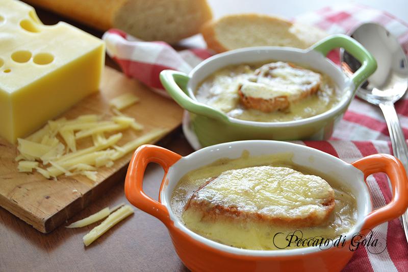 ricetta zuppa di cipolle soup a l'oignon, peccato di gola