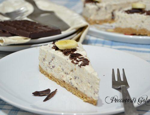 Cheesecake banana e cioccolato