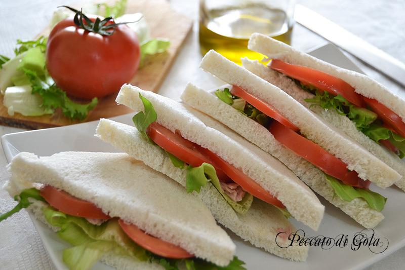 ricetta tramezzini con pane bianco, peccato di gola