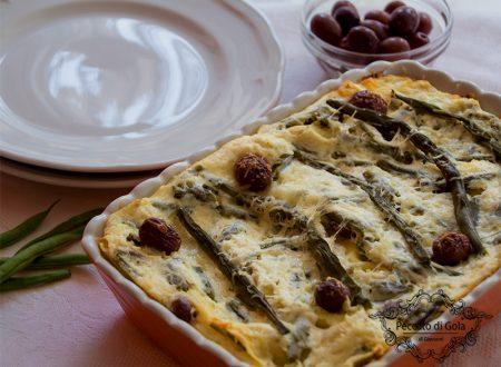 Lasagne fagiolini e ricotta