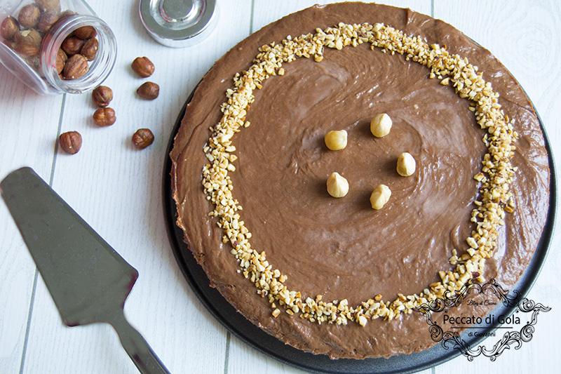 ricetta della cheesecake alla nutella senza colla di pesce, peccato di gola