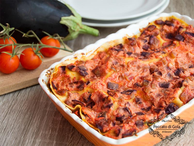 ricetta lasagne alla norma, peccato di gola