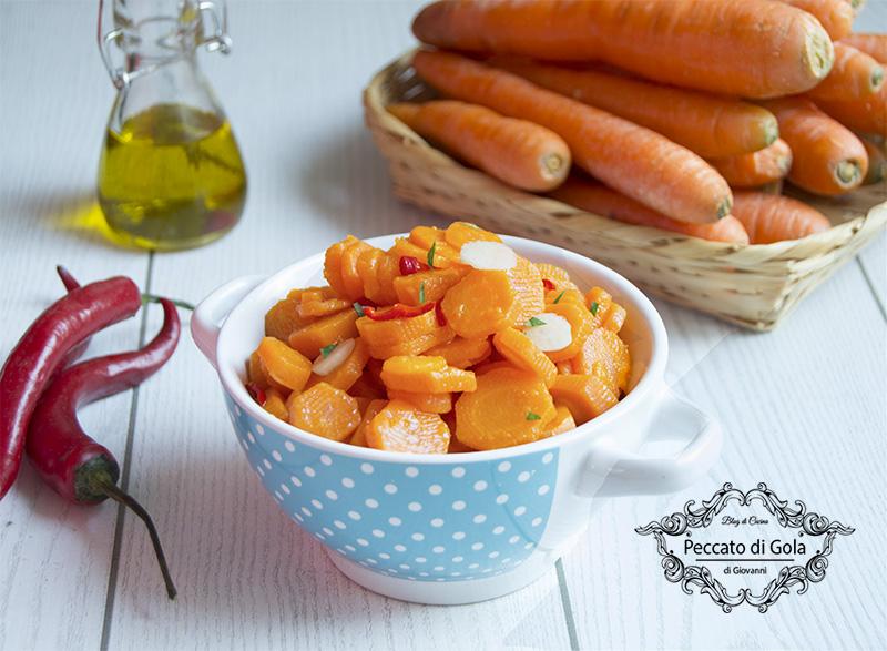 ricetta carote bollite con aceto e peperoncino, peccato di gola