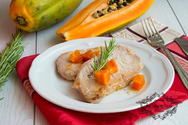 ricetta fettine di lonza alla papaya, peccato di gola