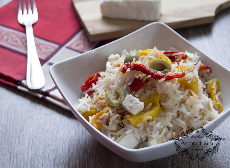 ricetta insalata di riso, peperoni e tonno, peccato di gola
