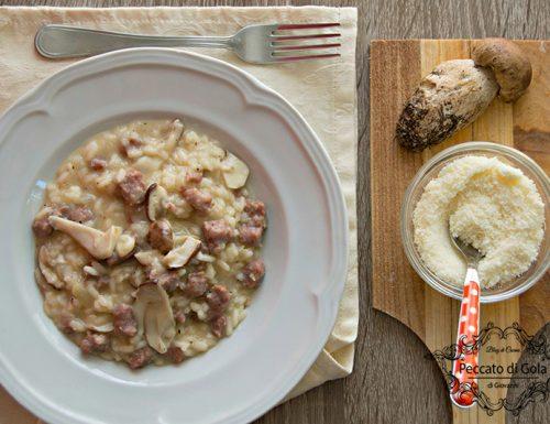 Risotto funghi porcini e salsiccia