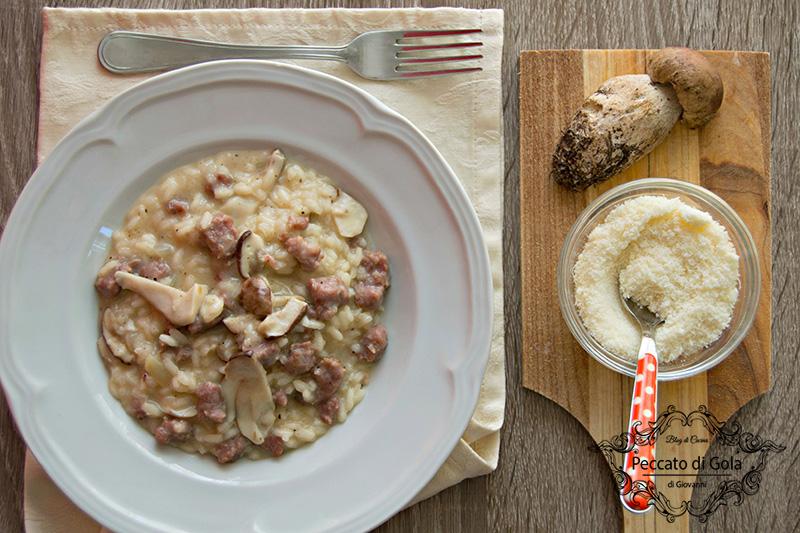ricetta risotto funghi porcini e salsiccia, peccato di gola