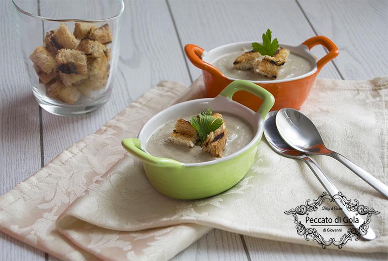ricetta crema di funghi e patate, peccato di gola