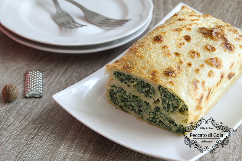 Terrina di crepes ricotta e spinaci