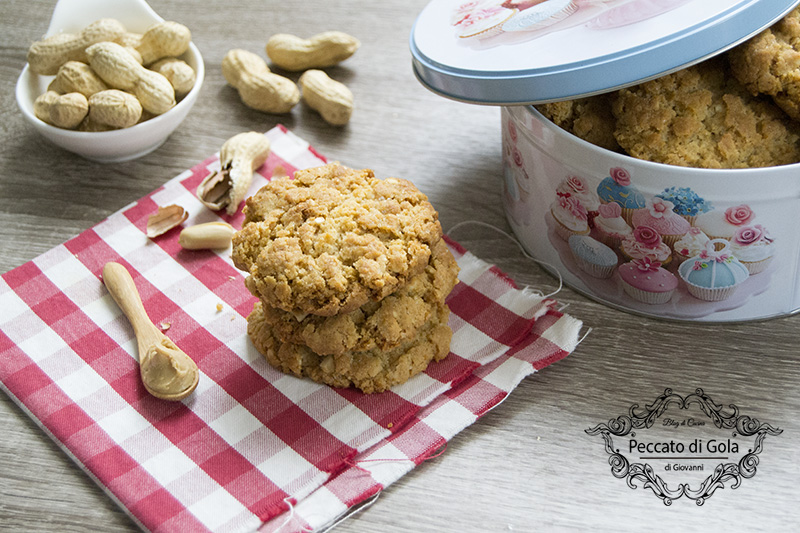 ricetta cookies al burro d'arachidi, peccato di gola