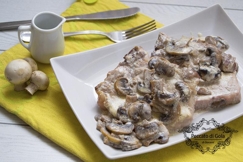 ricetta costolette ai funghi, peccato di gola