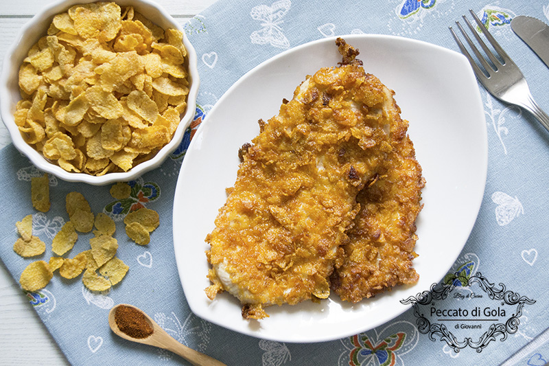 Petto di pollo ai corn flakes