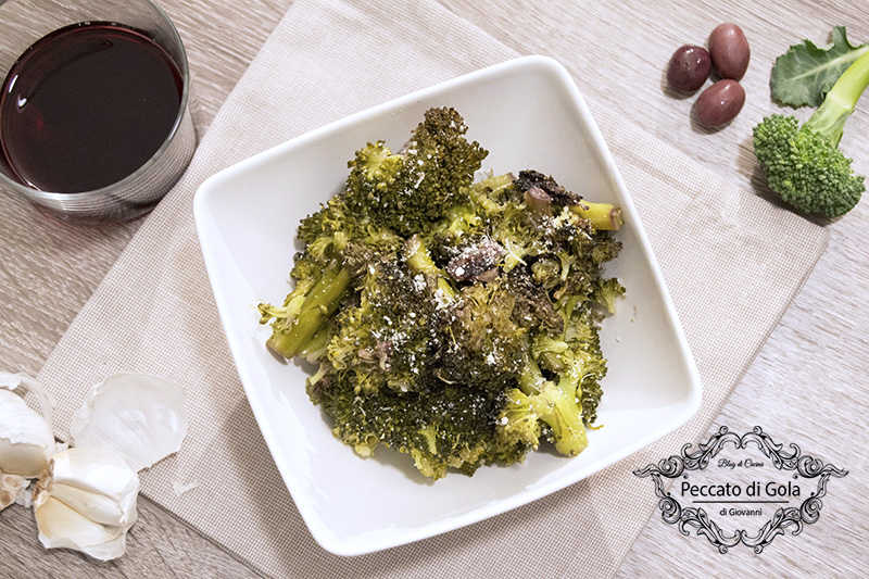 ricetta broccoli affogati, peccato di gola