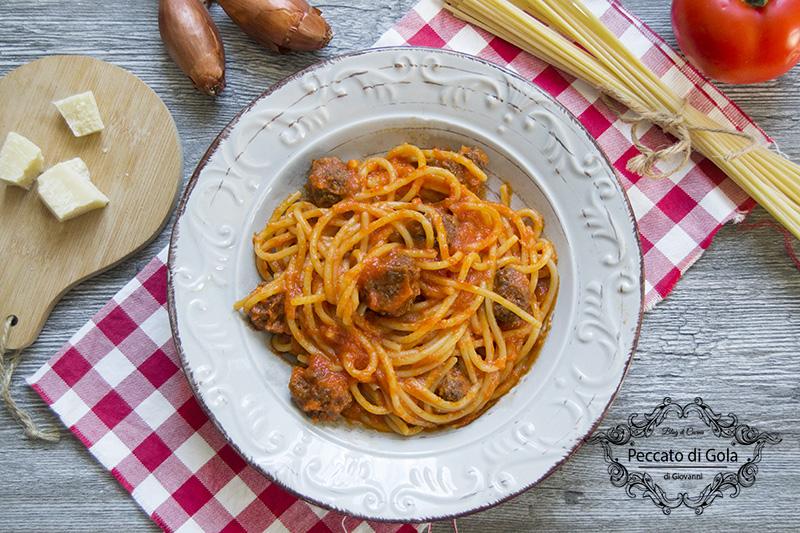 ricetta spaghetti with meatballs, peccato di gola