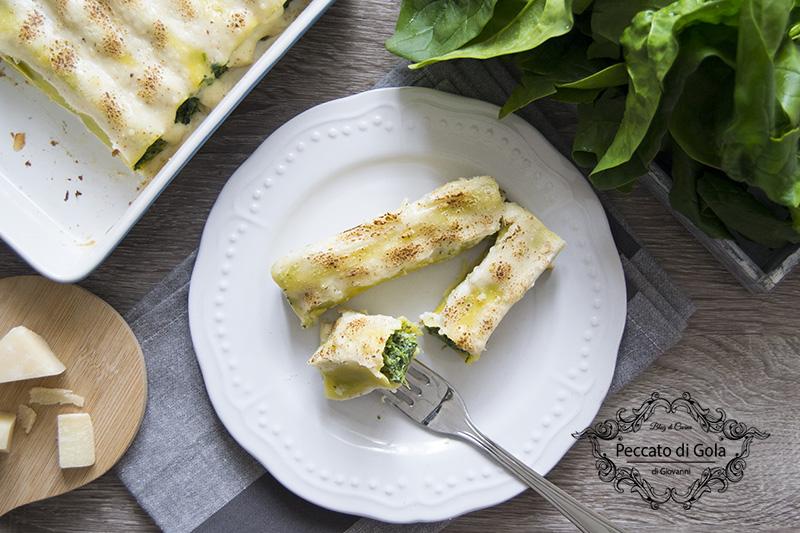ricetta cannelloni ricotta e spinaci, peccato di gola